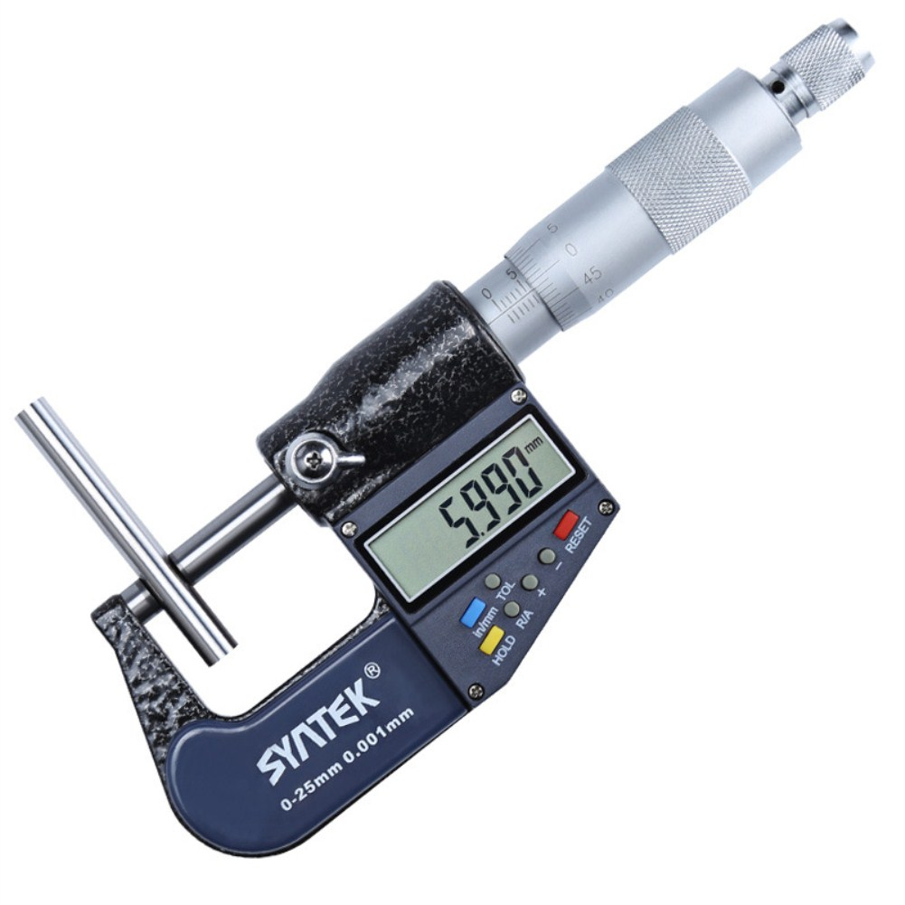 Syntek Micrometer Caliper Stainless Steel Multifunction Digital Display+Scale Dual Use