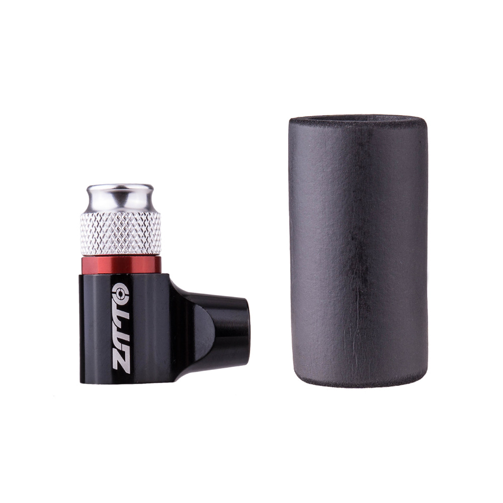 ZTTO Bicycle Air Nozzle For Quick Inflatable Bottle Bicycle Inflatable Bottle Adapter Bicycle Pump Mountain Bike Road Bike Carbon Dioxide Portable Quick Pump Black