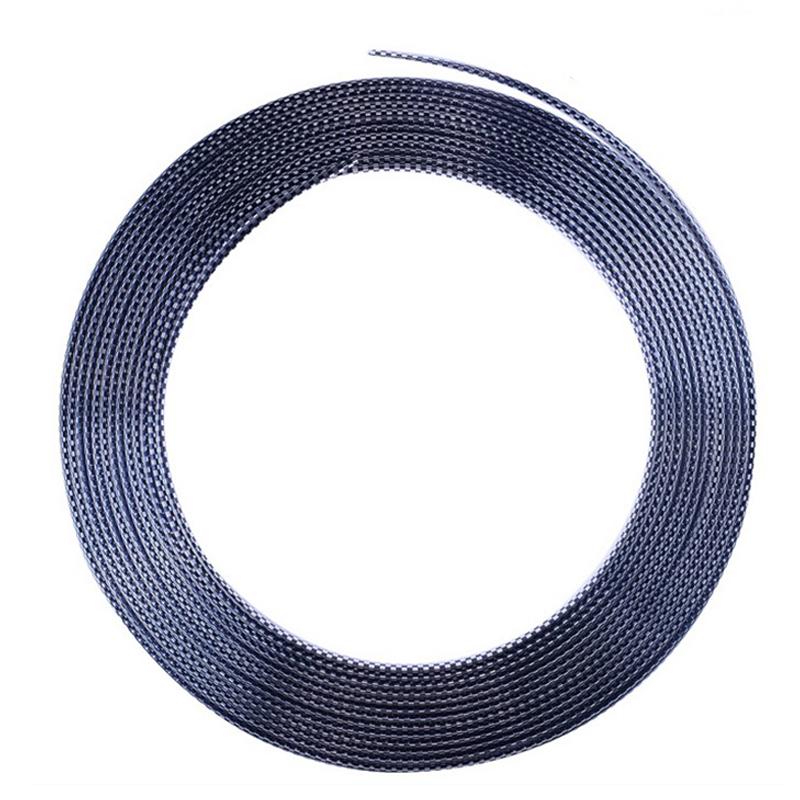 13M Moulding Trim Strip Car Door Edge Protector Cover Outlet Vent Car Decorative Strips Black + Silver