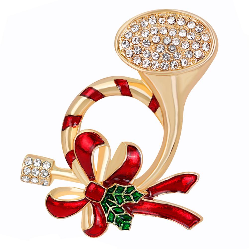 Elegant Refined All-match Breastpin Fashion Plating Shimmer Rhinestone Brooch Women Girls Birthday Xmas Gift