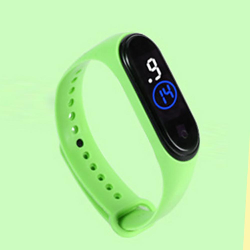 Waterproof M4 LED Muamaly Digital Watches Touch Control Sports Casual Stylish Boys Girls Watch green