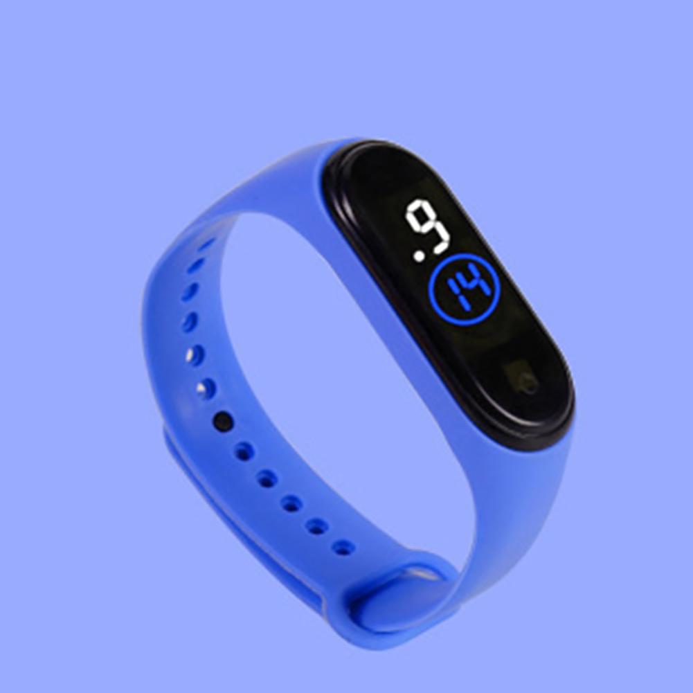 Waterproof M4 LED Muamaly Digital Watches Touch Control Sports Casual Stylish Boys Girls Watch blue