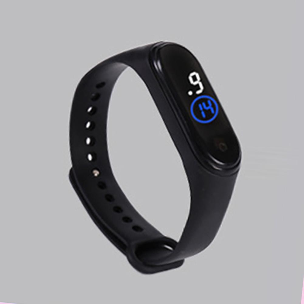 Waterproof M4 LED Muamaly Digital Watches Touch Control Sports Casual Stylish Boys Girls Watch black