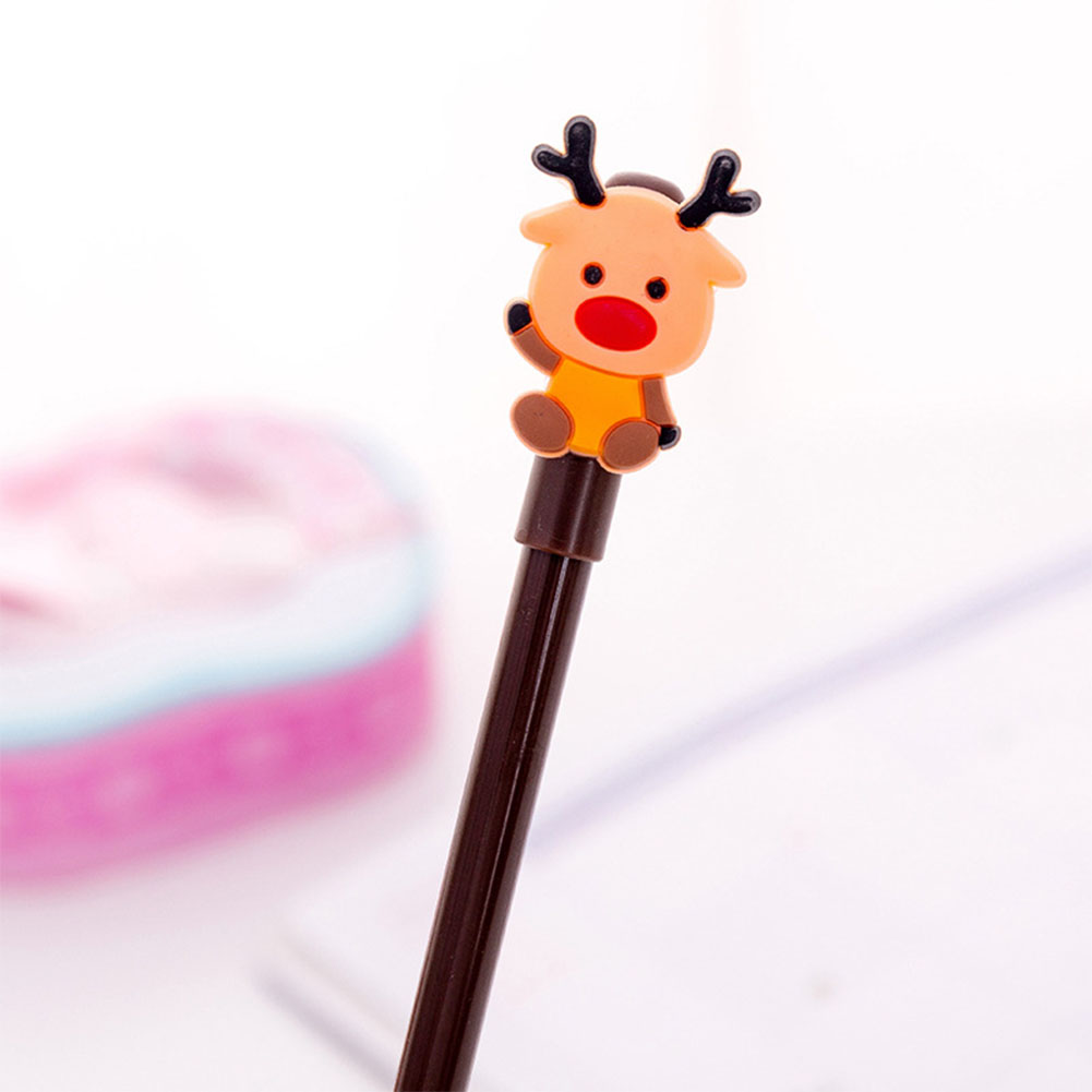 0.38mm Christmas Black Gel Pen Cartoon Santa Clause Snowman Xmas Tree Deer Neutral Pen 0.38mm