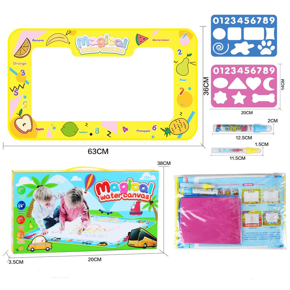 Children Large Magic Water Canvas Toy 68*38 Fruit Theme (OPP Bag)