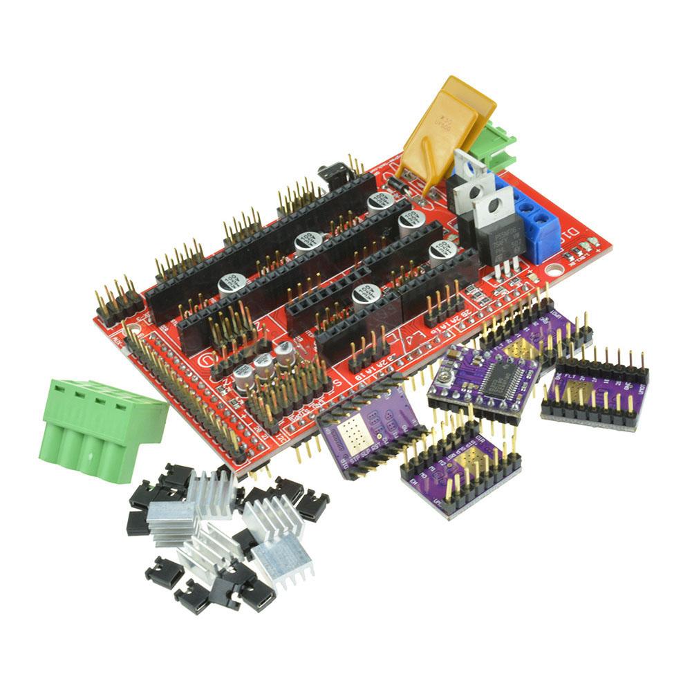 RAMPS 1.4 Controller Board + 5PCS DRV8825 StepStick Driver Module for 3D Printer RAMPS 1.4 + 5PCS DRV8825