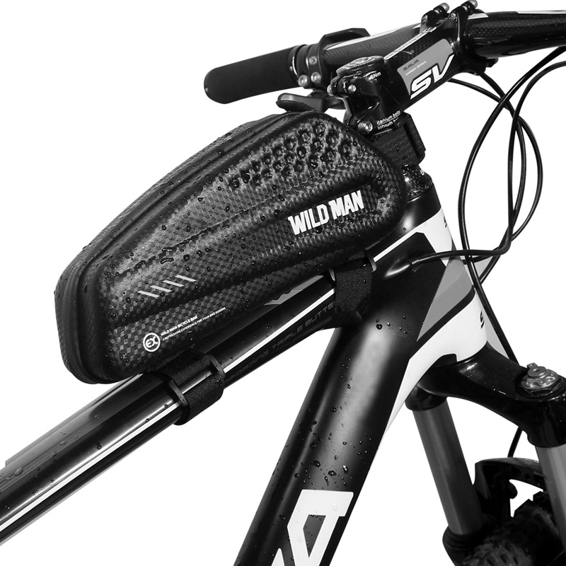 Bicycle Bag Triangle Frame Pannier MTB Road Cycling Top Tube Bag Universal phone within 6.5 inches