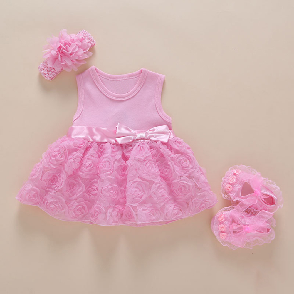 Baby Infant Lace Party Wedding Dress
