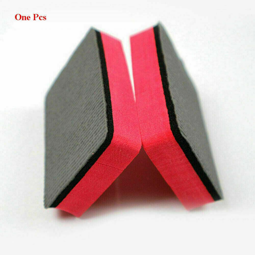 Useful Car Magic Clay Bar Pad Sponge Block Cleaning Eraser Wax Polish Pad Tools Black + red