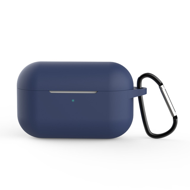 Silicone Case for AirPods Pro Travel Earphone Storage Bag Smooth Surface Dustproof Overall Protection Headset Cover navy blue