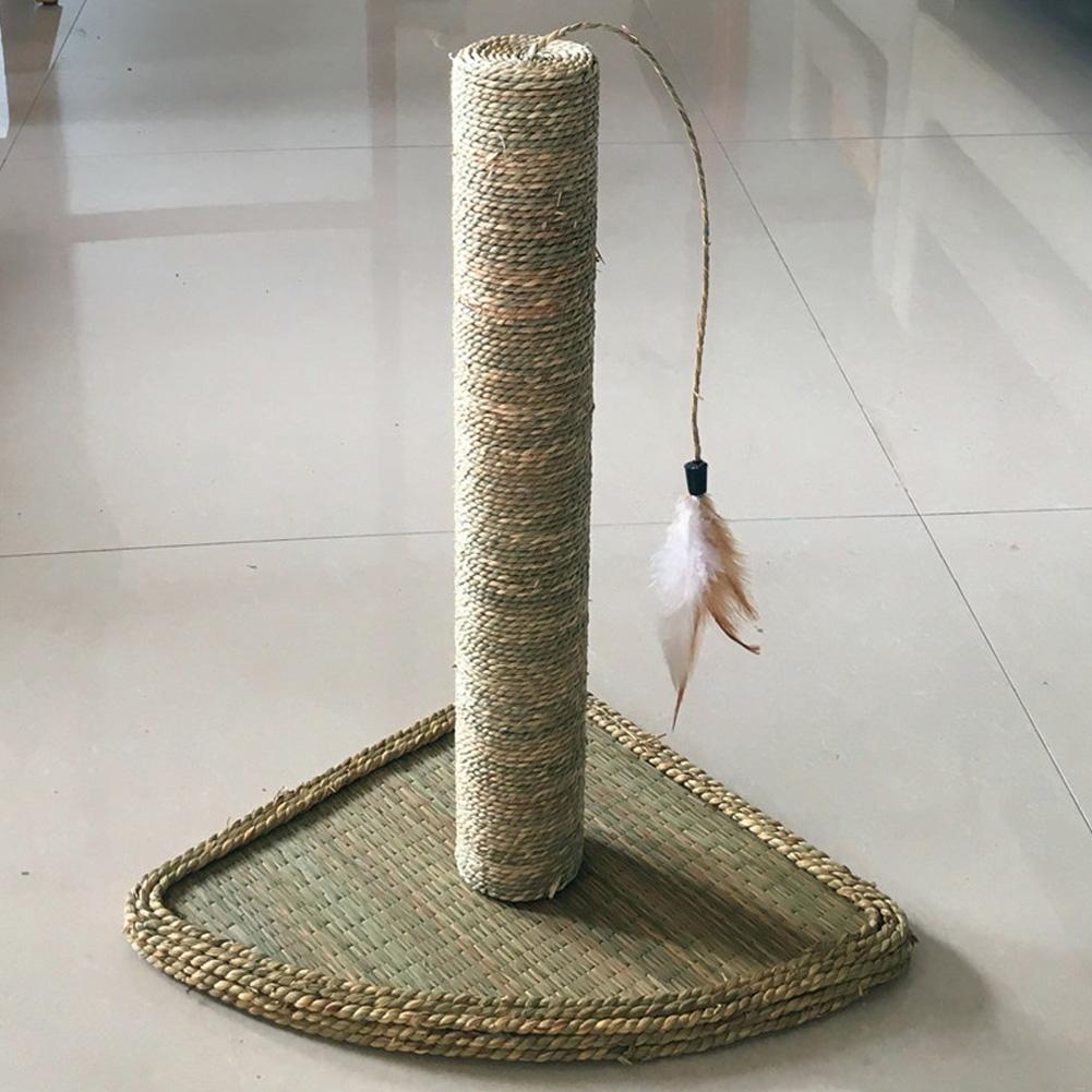 Non-stick Hair Climbing Frame Rattan Mat Scratching Board Small Pet Supplies straw mat