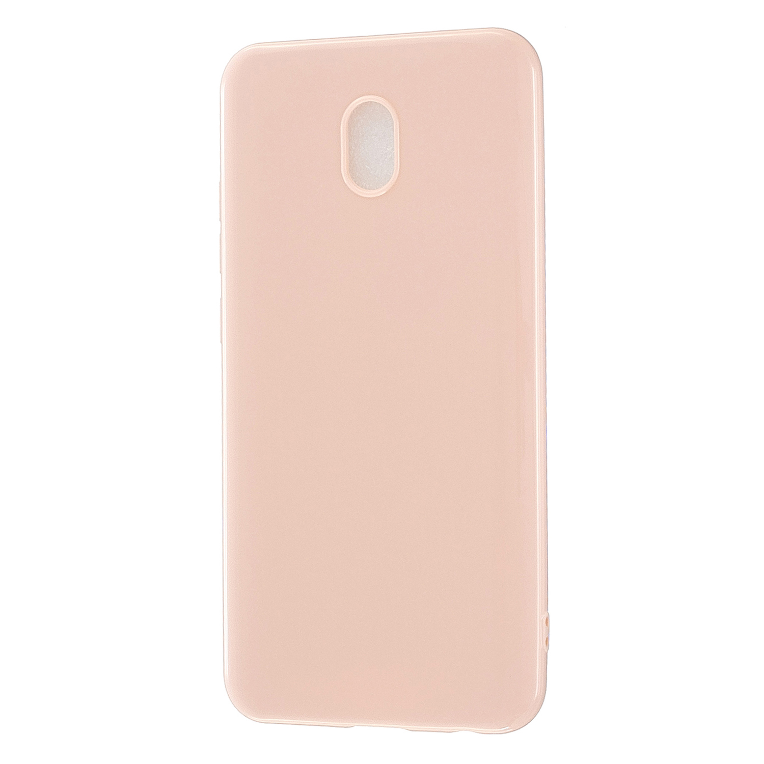 For Redmi 8 / Redmi 8A Cellphone Cover Glossy TPU Phone Case Defender Full Body Protection Smartphone Shell Sakura pink