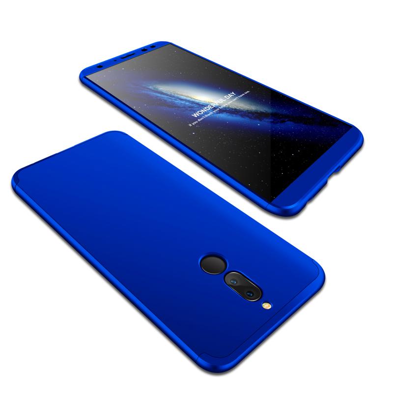For HUAWEI MAIMANG 6/Mate 10 lite/Honor 9i(india)/Nova 2i Ultra Slim PC Back Cover Non-slip Shockproof 360 Degree Full Protective Case blue