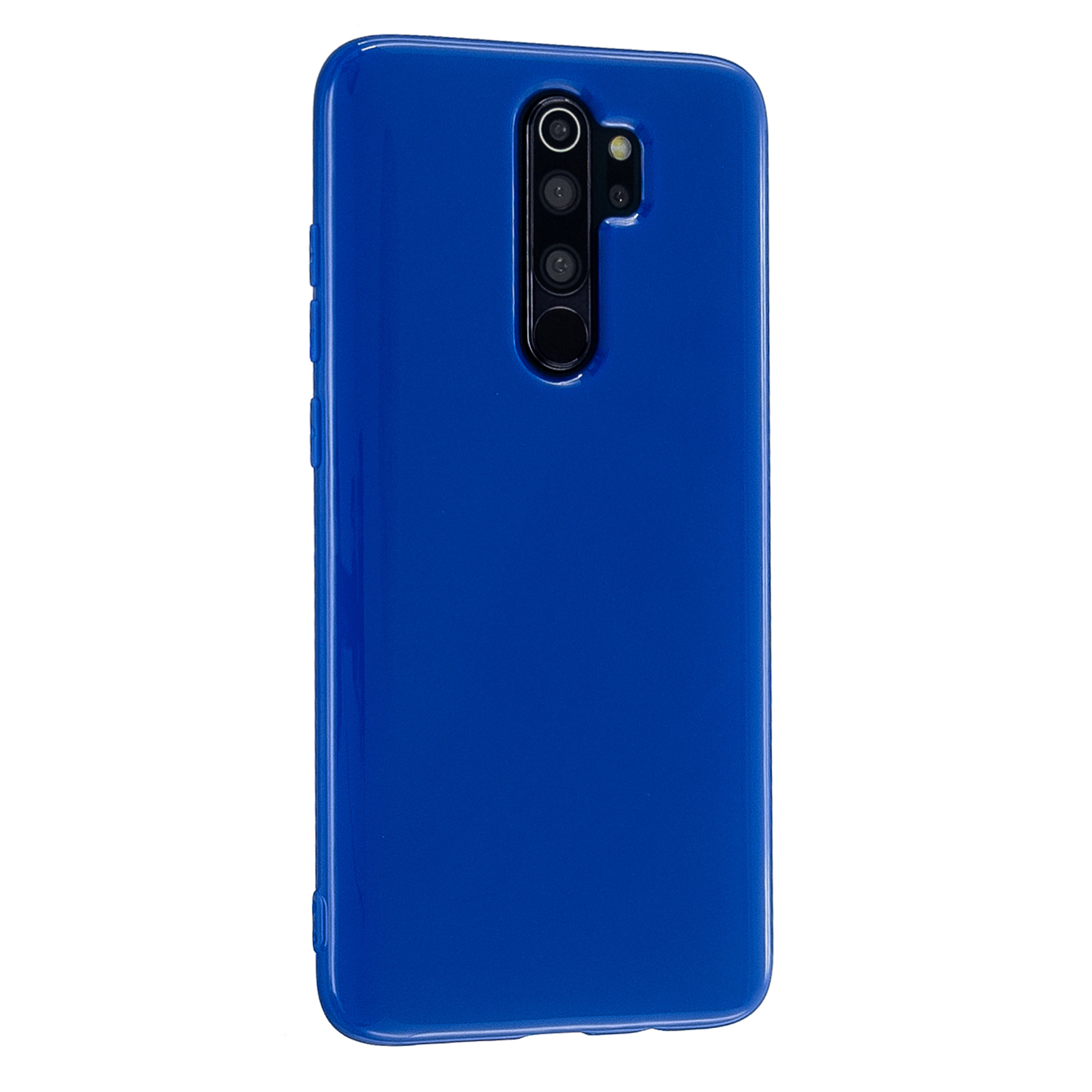 For Redmi Note 8/8 Pro Cellphone Cover 2.0mm Thickened TPU Case Camera Protector Anti-Scratch Soft Phone Shell Navy blue