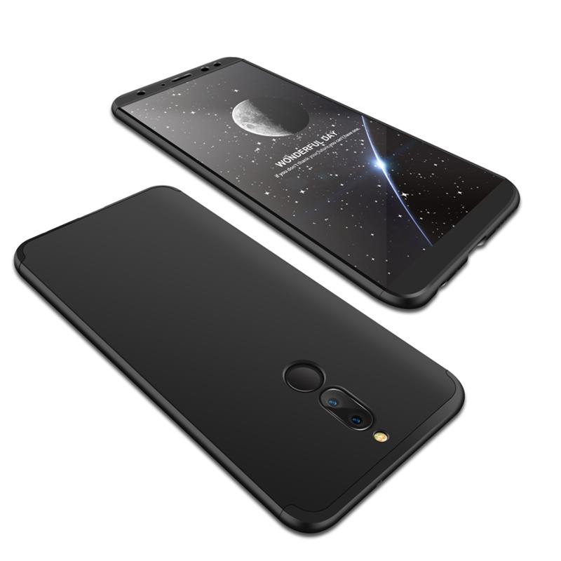 For HUAWEI MAIMANG 6/Mate 10 lite/Honor 9i(india)/Nova 2i Ultra Slim PC Back Cover Non-slip Shockproof 360 Degree Full Protective Case black
