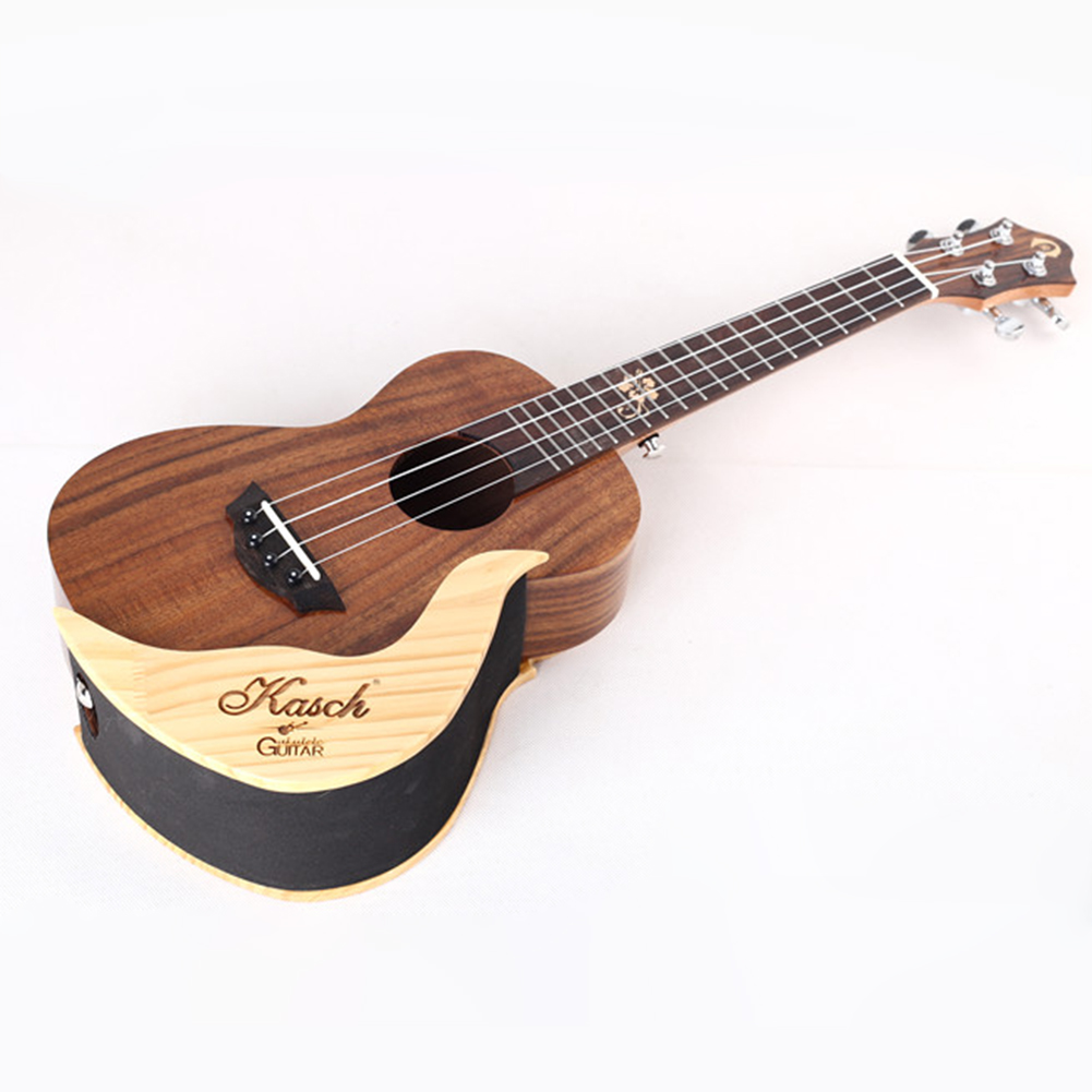 Simple Elegant Wooden Ukulele Wall Holder Small Guitar Display Stand  (right)