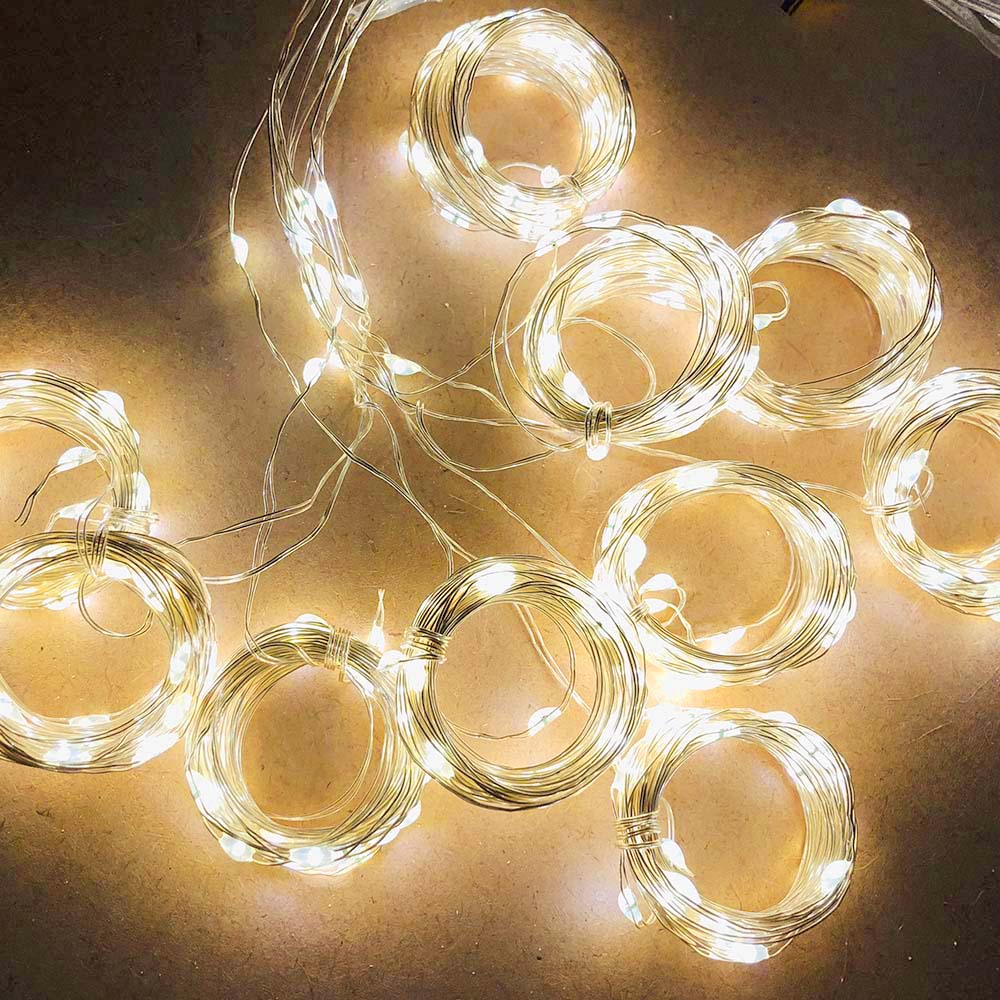 3*1 Meters Curtain Lights 8 mode USB Remote Control Copper Wire Decorative Curtain Lights Fairy Lights LED Lights String Warm White