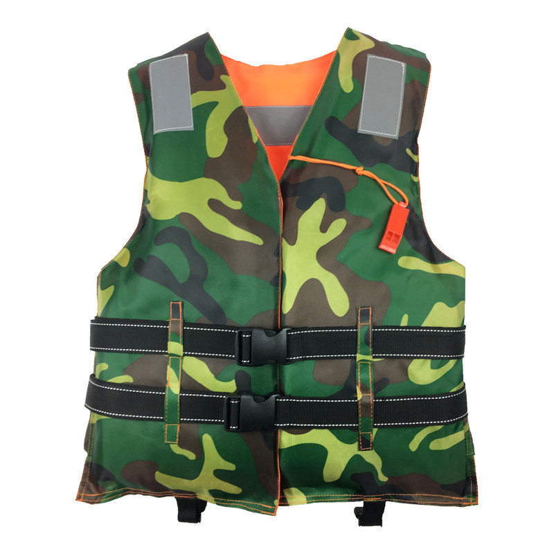 Life Vest with Whistle Two Side Swimming Boating Drifting Water Sports Jacket Polyester Adult Life Vest Jacket Adult one size