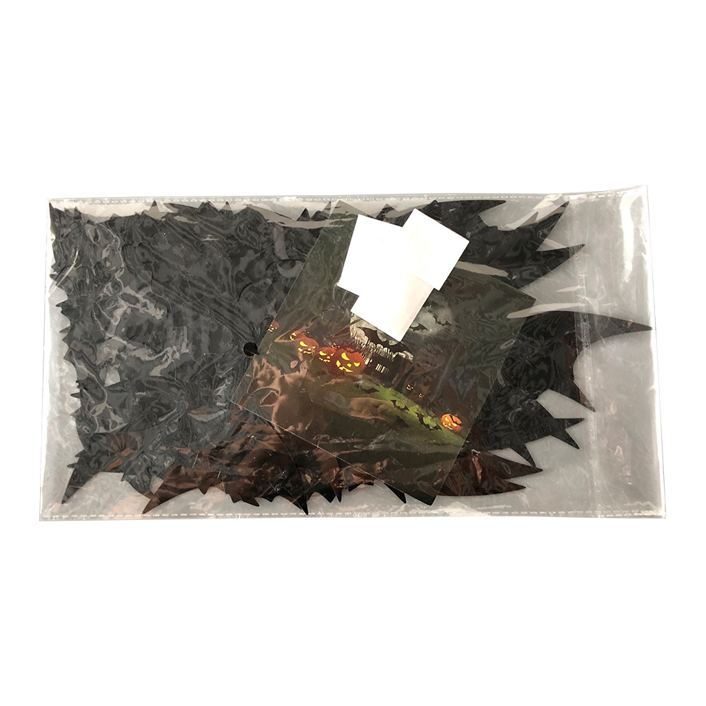 56pcs/pack Halloween Decorative  Sticker Bat Shaped 3d Wall Stickers Household Decoration A pack of BF56 weighs 83g