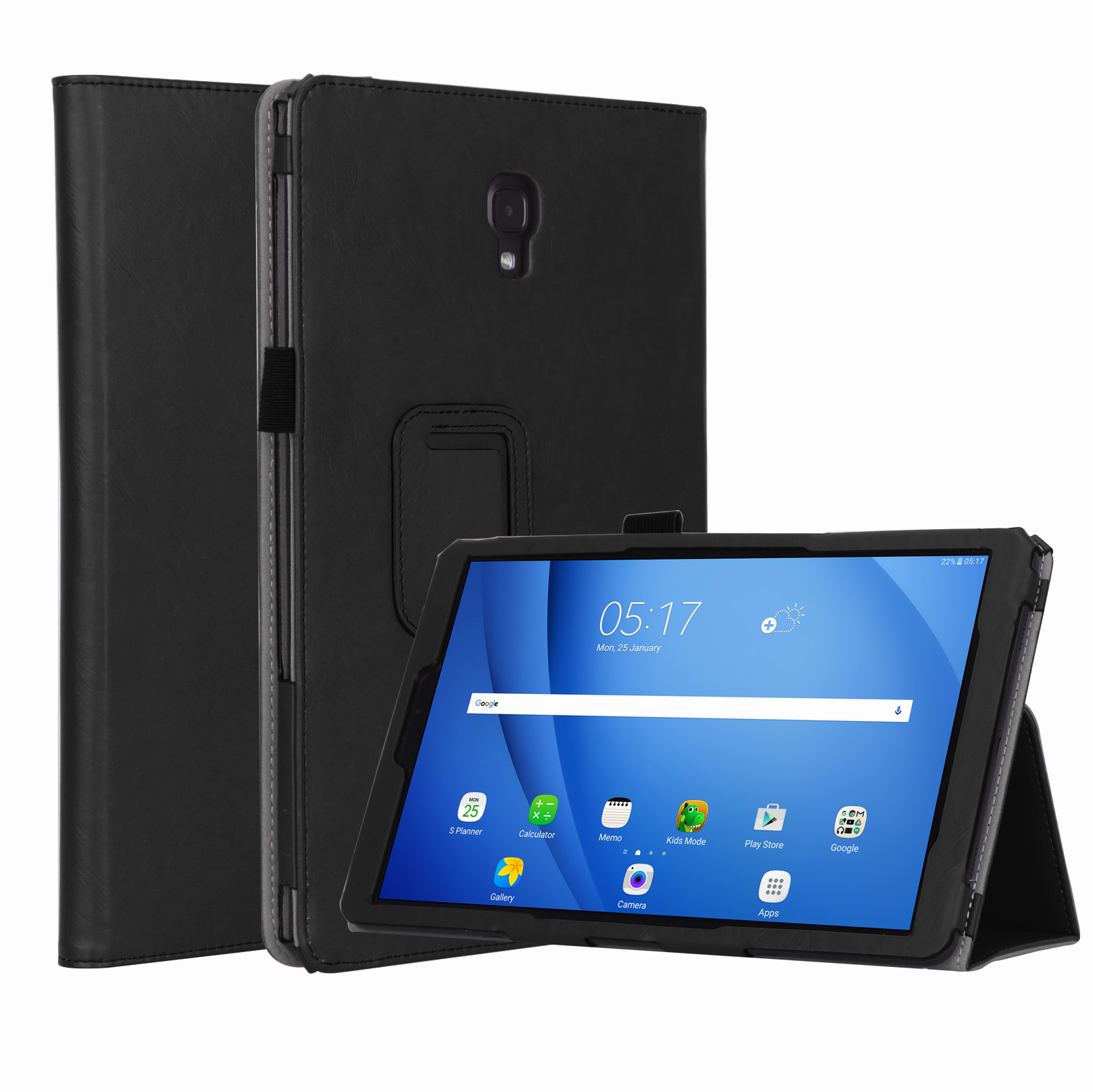 For Samsung tab A2 T590/T595 10.5 inch PU Leather Protective Case with Hand Support Card Slot Sleep Function black_Samsung tab A2 T590/T595 10.5 inch