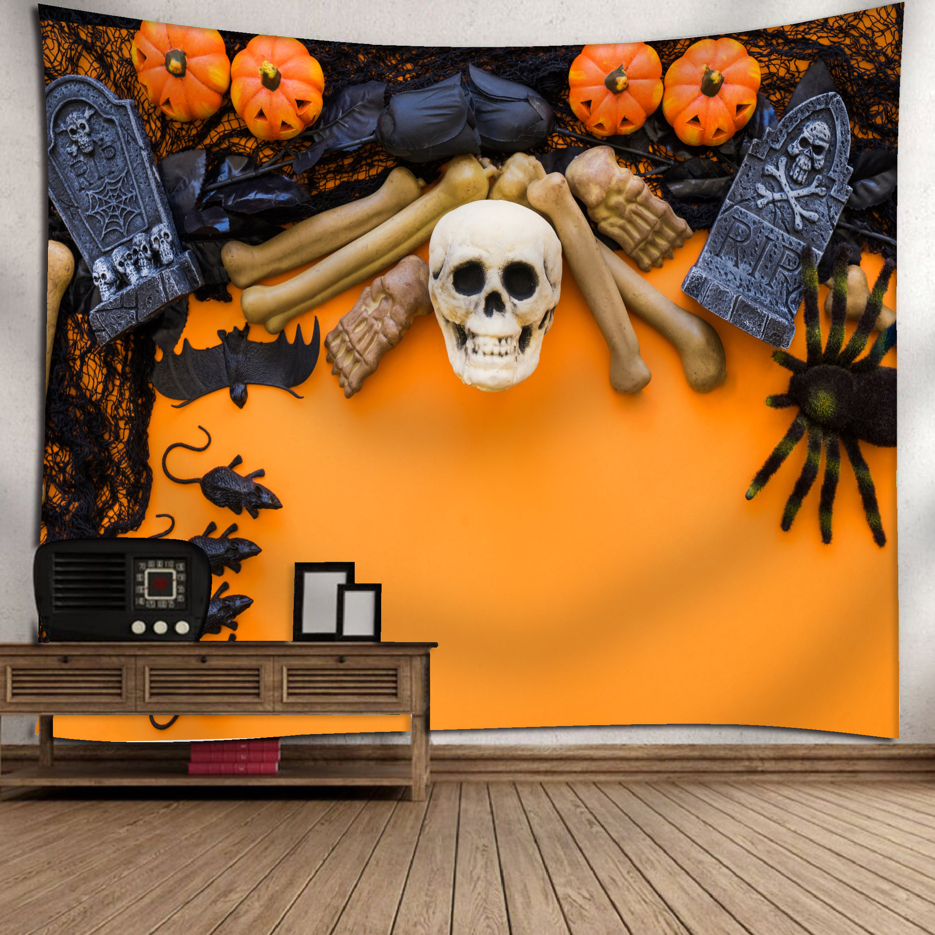 Fashion Halloween Hanging Home Tapestry Wall Decoration 11_150*130