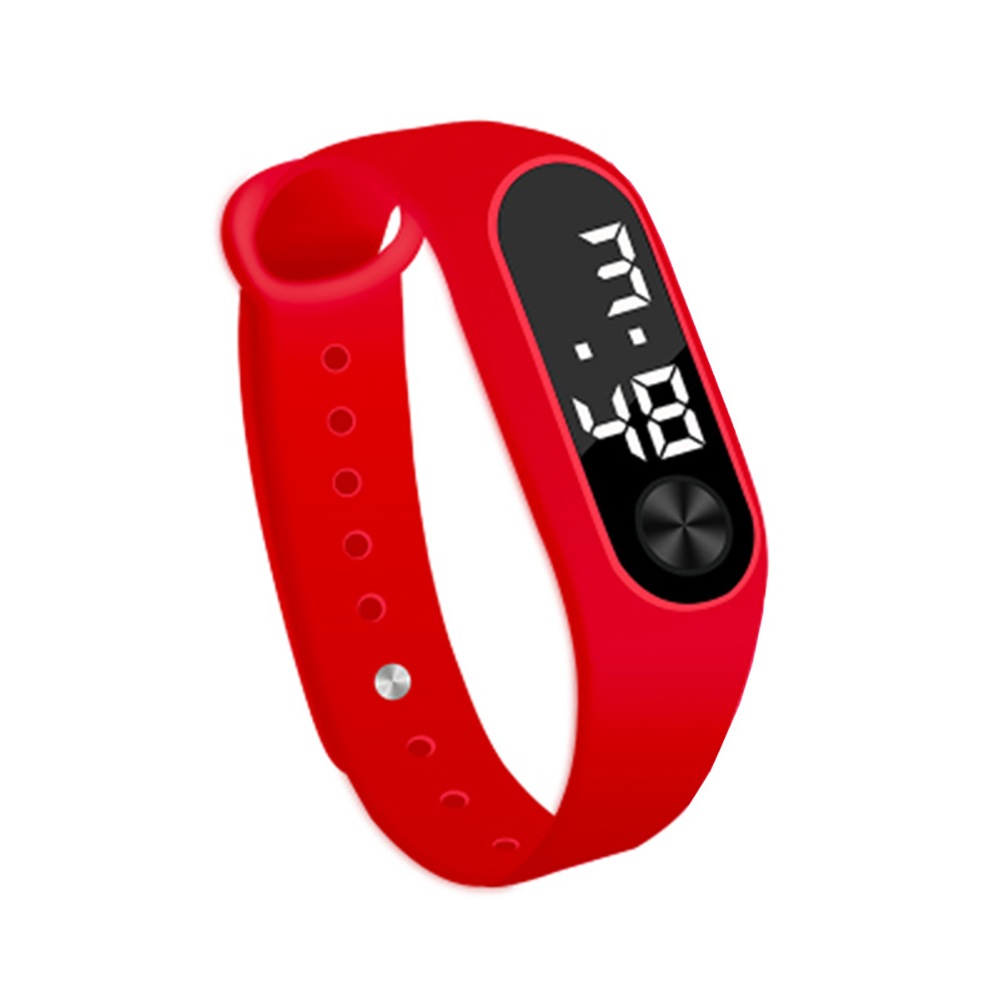 Simple Watch Hand Ring Watch Led Sports Fashion Electronic Watch red