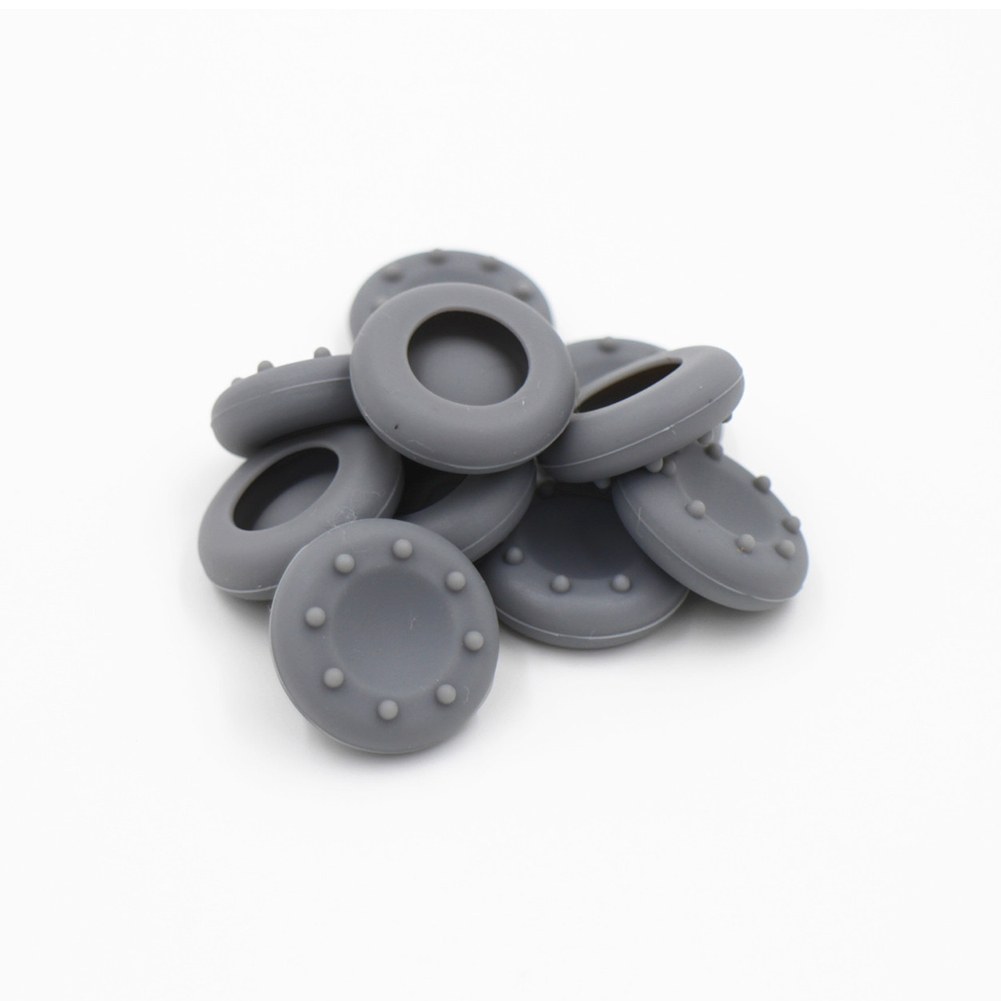 For XBOXONE/360/PS4/3 Controller Thumb Grips Cover Rubber Pads  gray