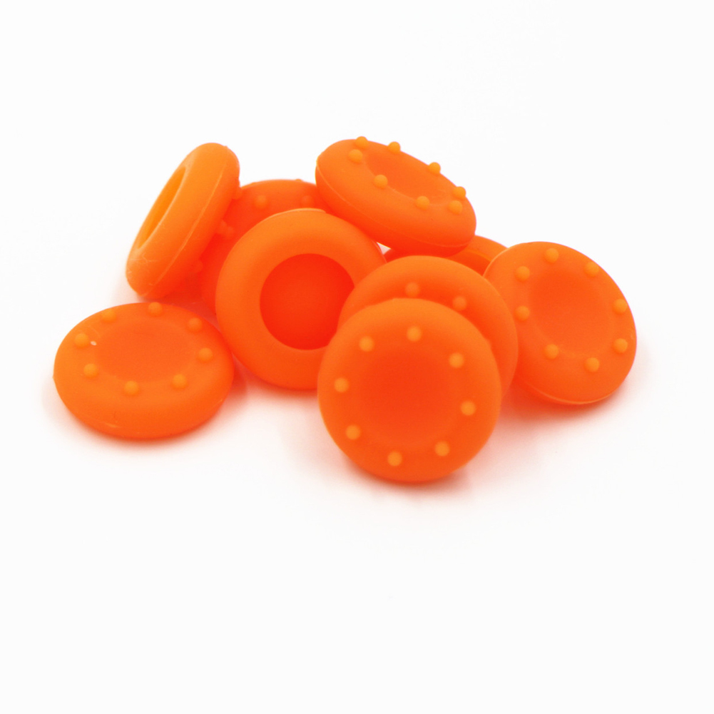For XBOXONE/360/PS4/3 Controller Thumb Grips Cover Rubber Pads  Orange