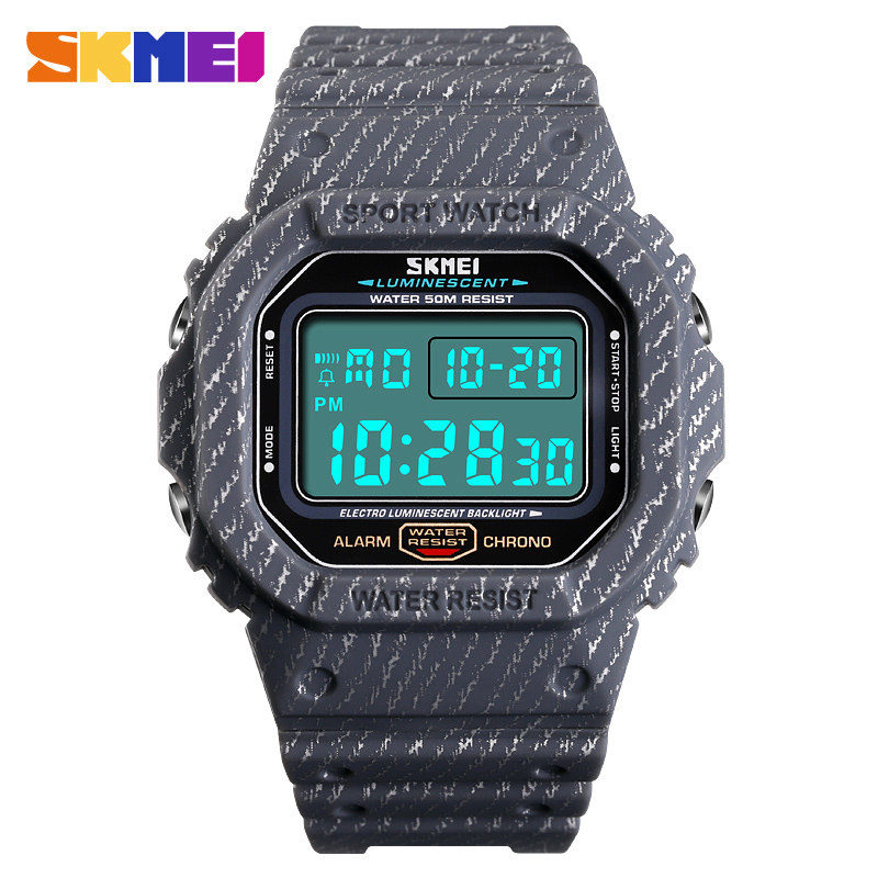 SKMEI Outdoor Sport Men Digital Watch Gray