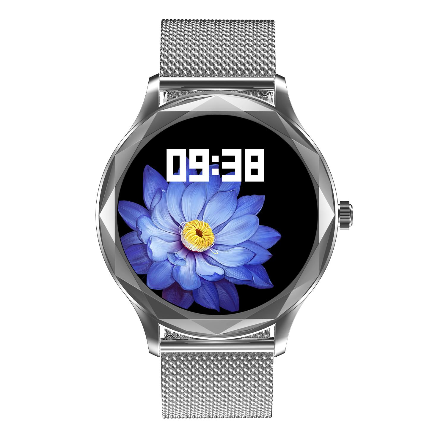 Dt86 Men Women Smart Watch Heart Rate Blood Pressure Monitor Sports Ip67 Waterproof Bluetooth Smartwatch 02 steel belt-silver