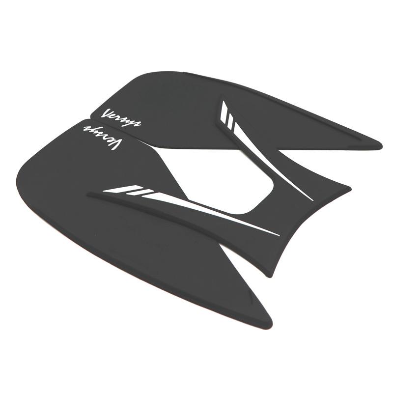 Motorcycle Anti-slip Decals Fuel Tank Pad Non-slip Sticker Protector Fish Bone Sticker for KAWASAKI VERSYS X300 black