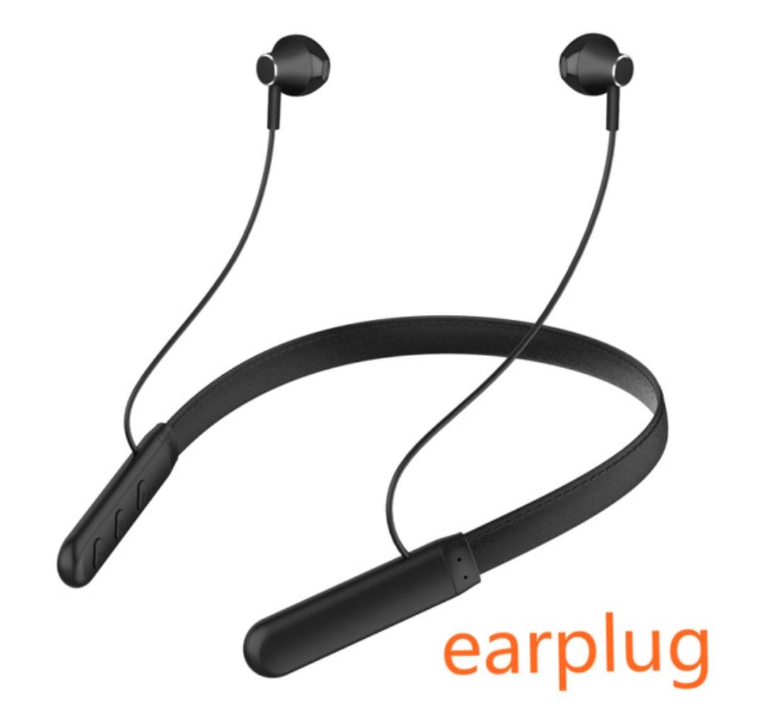 Magnetic Wireless Bluetooth Earphone Music Headset Neckband Sport Earbuds Earphone With Mic Anti-sweat Waterproof G8 black