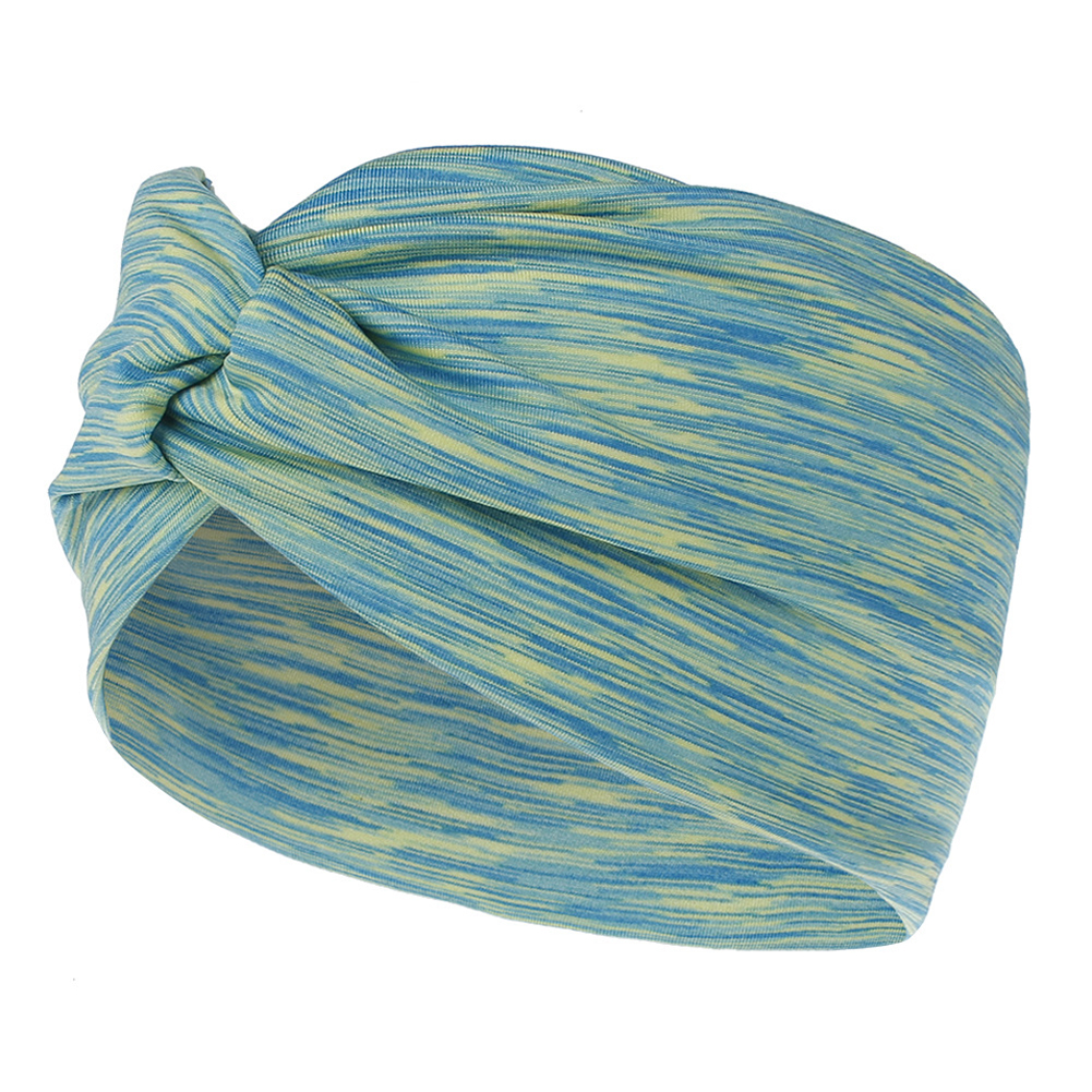 Wide Sport Sweatband Yoga Headband Stretch Head Band Hair Bands green