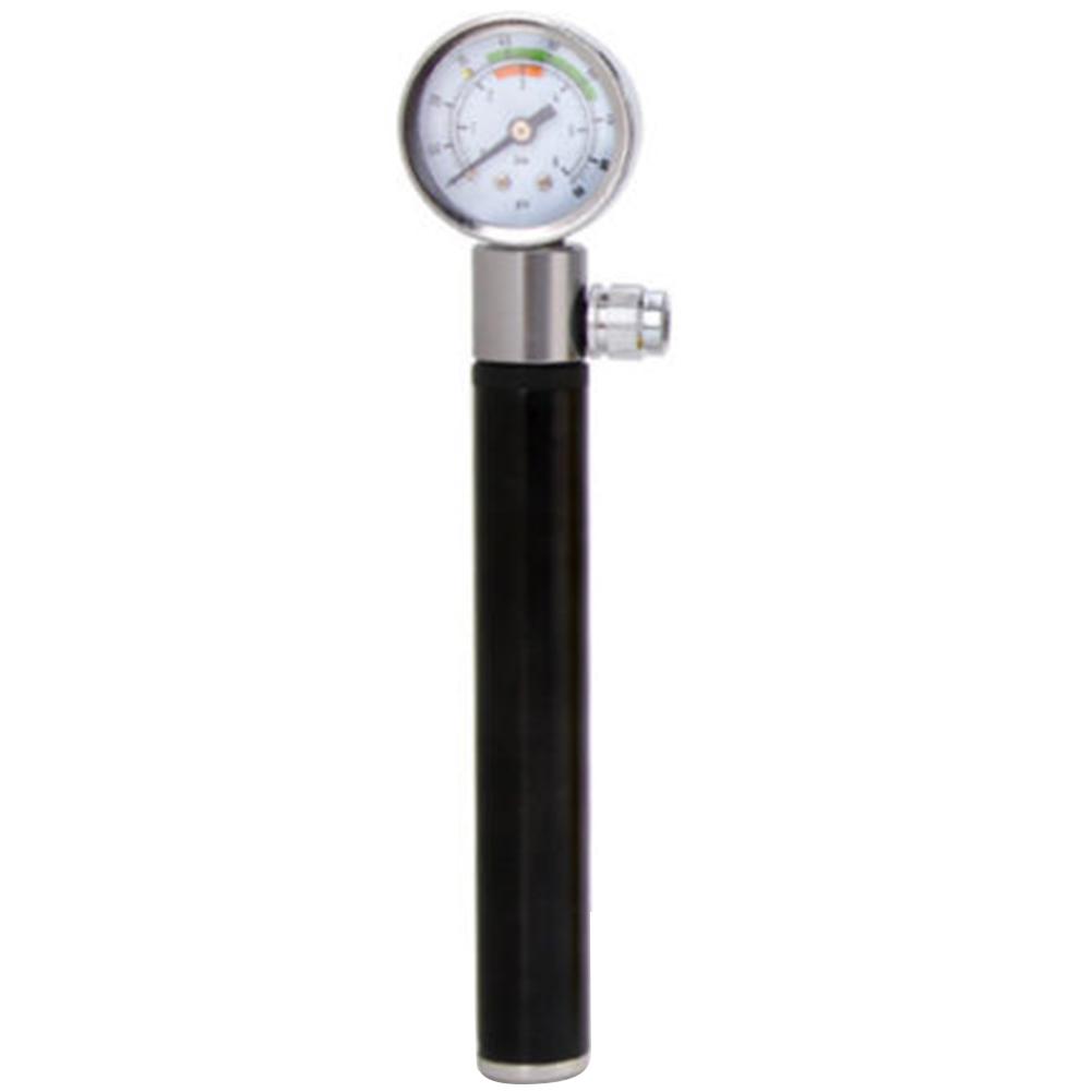 High Pressure Meter Shock Bicycle Pump & Gauge Hand Bike Air Supply Inflator black
