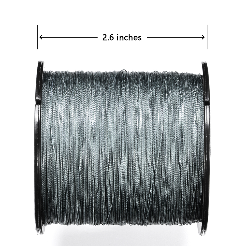 500 M Fishing  Line 8 Strands PE Braided  Strong Pull Main Line Fishing Line Fishing Tackle gray_500m_30LB/0.28mm