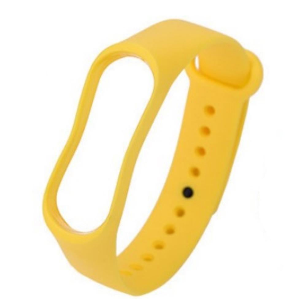 Smart Watch Wristband for Xiaomi 3 and 4 Bracelet Intellegent Sports Bracelet TPU Waterproof Wristband Yellow