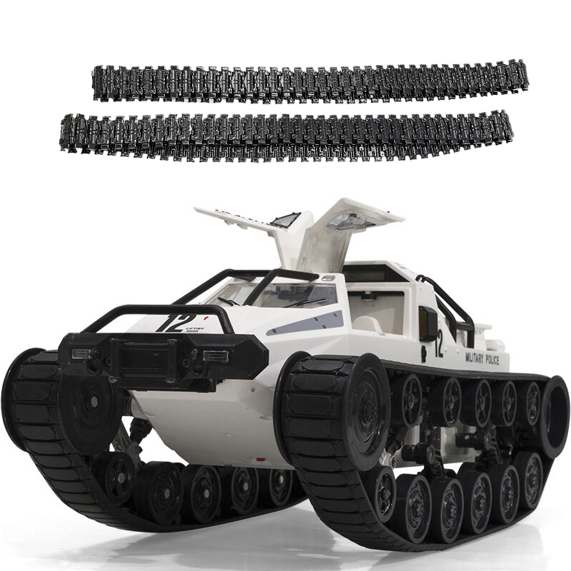 SG 1203 World of RC Tank Car 2.4G 1:12 High Speed Full Proportional Control Vehicle Models Wading Depth With Gull-wing Door Metal Crawler white_Dual battery