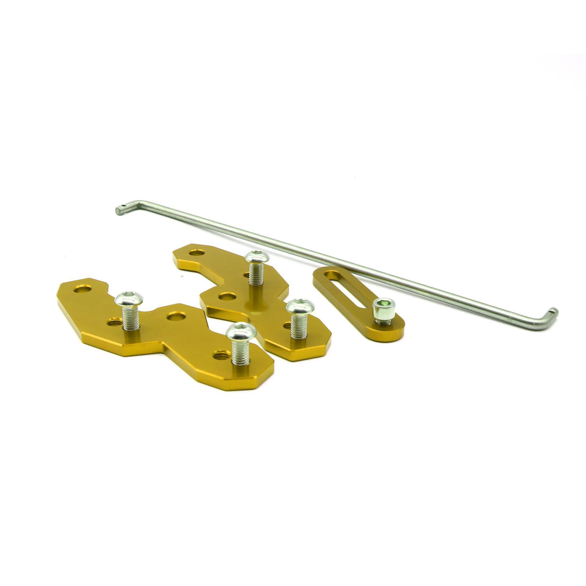 2PCSs Motorcycle Rearset Base  Aluminum Alloy Foot Pegs Motorbike Refitting Accessories for YAMAHA R15 V3 gold