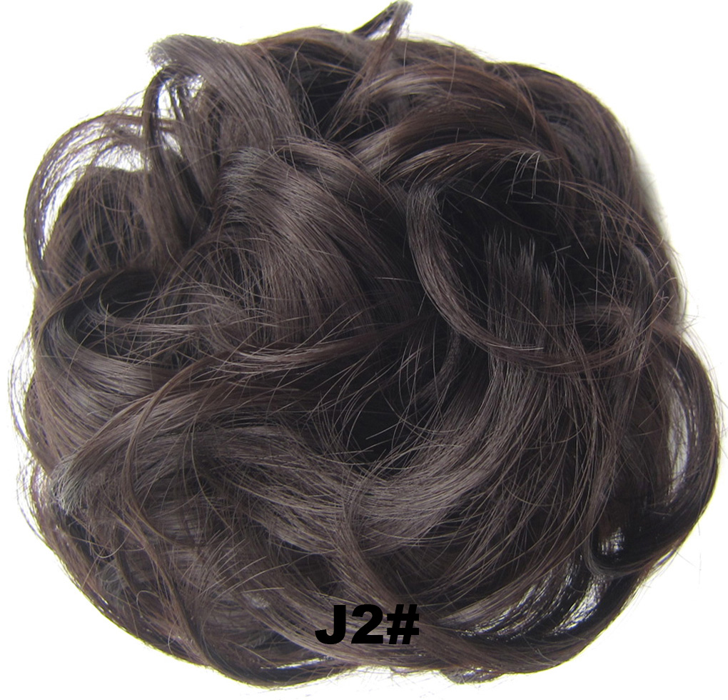 Fashion Synthetic Women Hair Pony Tail Hair Extension Bun Hairpiece Scrunchie Elastic Wedding Wave Curly  J2#