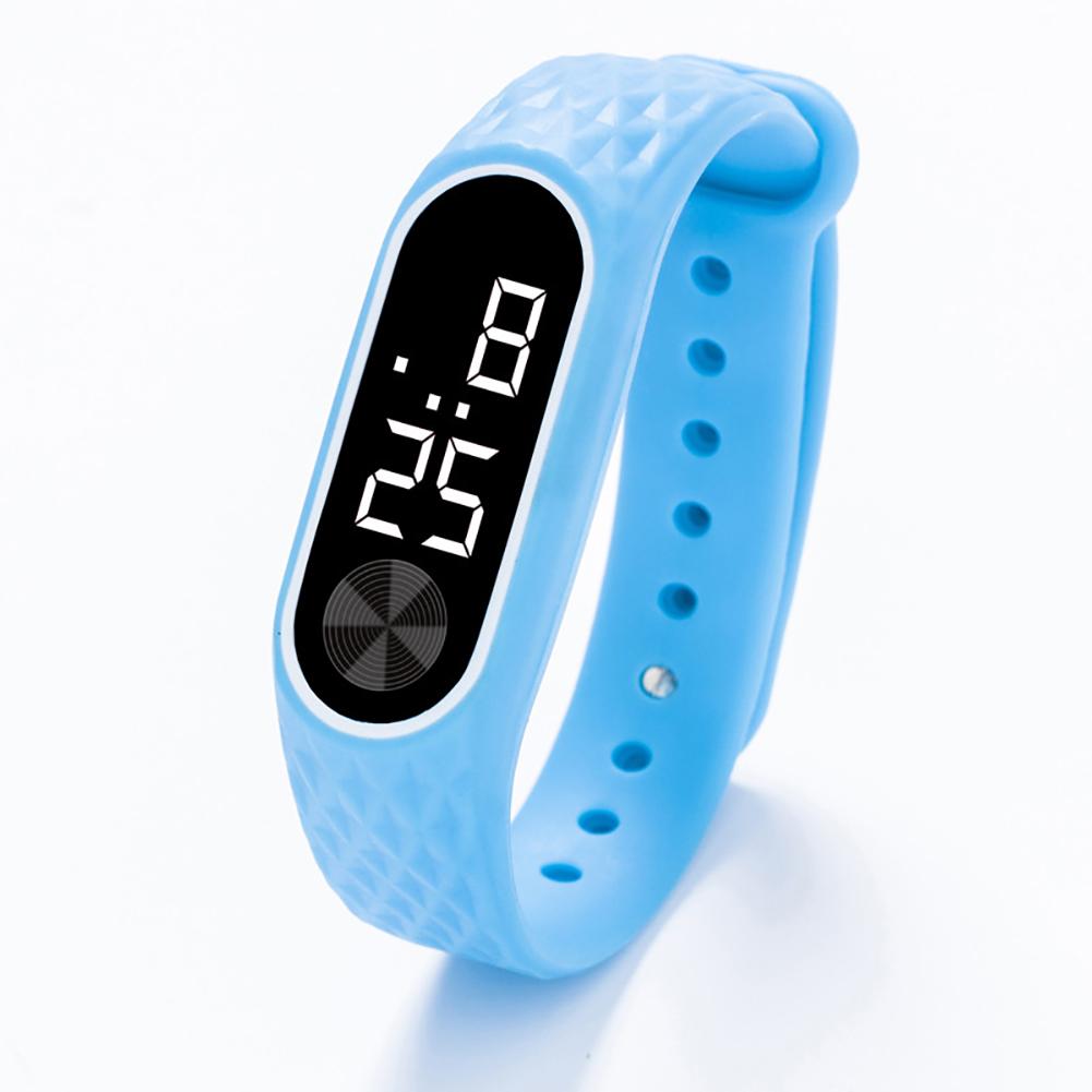 Kids Watch Bracelet LED Digital Sport Wrist Watch For Child Boys Girls New Electronic Clock  Blue