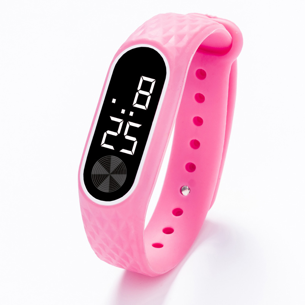 Kids Watch Bracelet LED Digital Sport Wrist Watch For Child Boys Girls New Electronic Clock  Pink