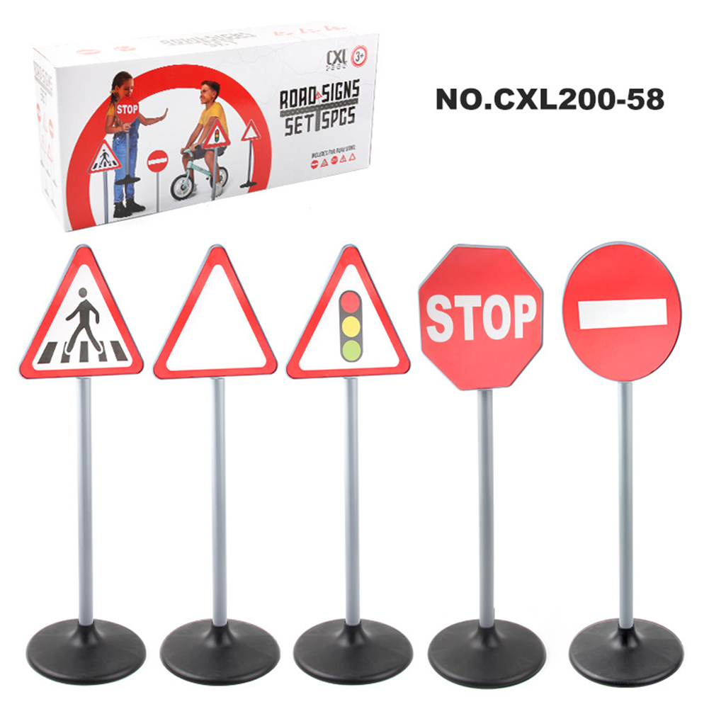 1  Set  Simulation  Traffic  Lights  Toy Traffic Safety Signs Model Scenes Science Education Toys #1