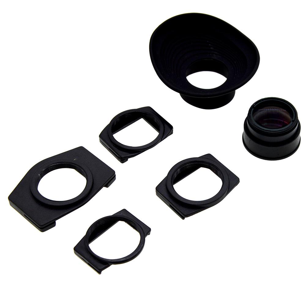Viewfinder 1.08-1.62X Zoom Magnifier Eyepiece Adjustable Eyecup Magnifying For Canon Nikon Olympus Pentax Sony Fujifilm Samsung Minolta black