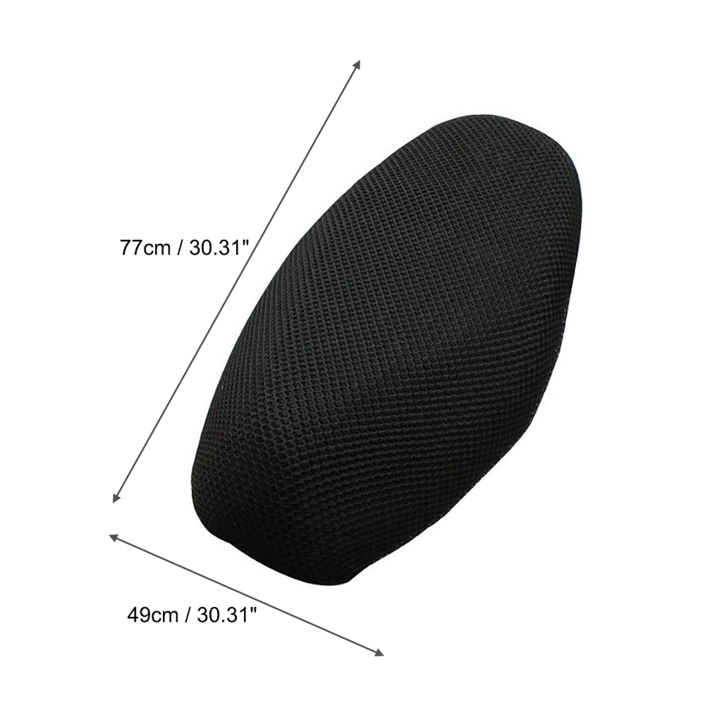 Motorcycle Seat Cover Scooter Moped Seat Anti-Slip Cushion 3D Spacer Mesh Fabric Cover XL