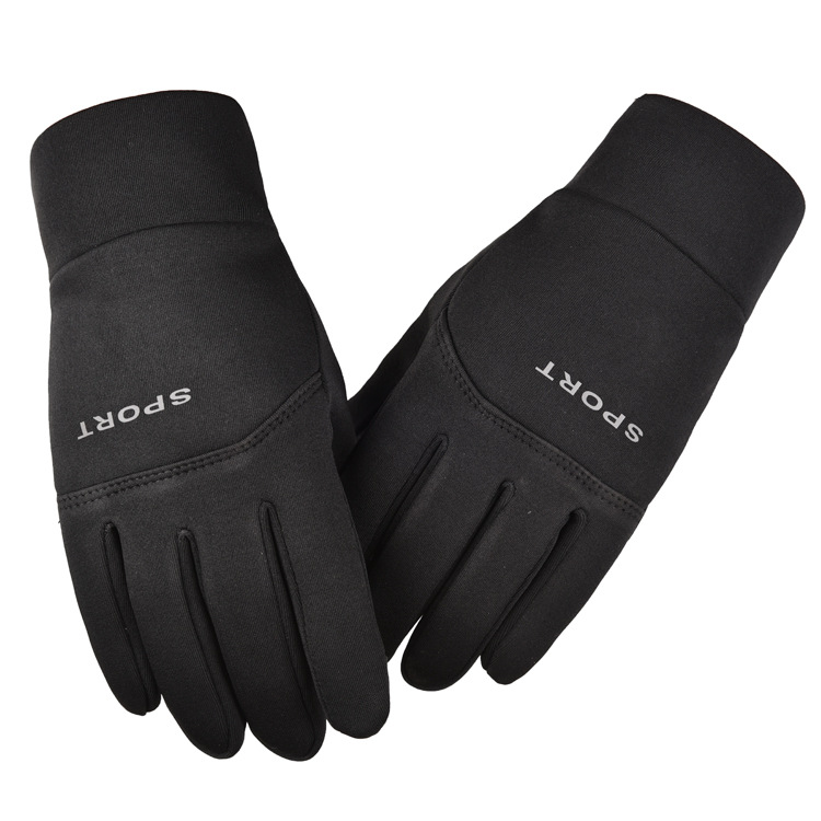 Men Women Gloves Autumn Winter Warm Touchscreen Nonslip Outdoor Riding Gloves black_L