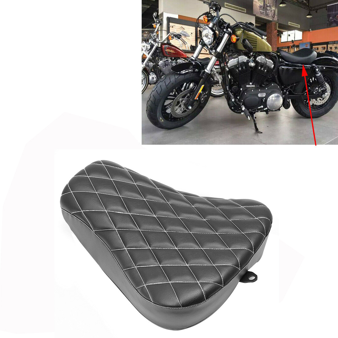 Motorcycle Saddle Motorcycle Single Driver Seat Front Solo Rider Seat Driver Seat