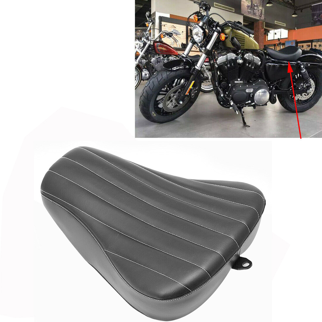 Motorcycle Saddle Front Solo Rider Seat Driver Seat Motorcycle Single Driver Seat