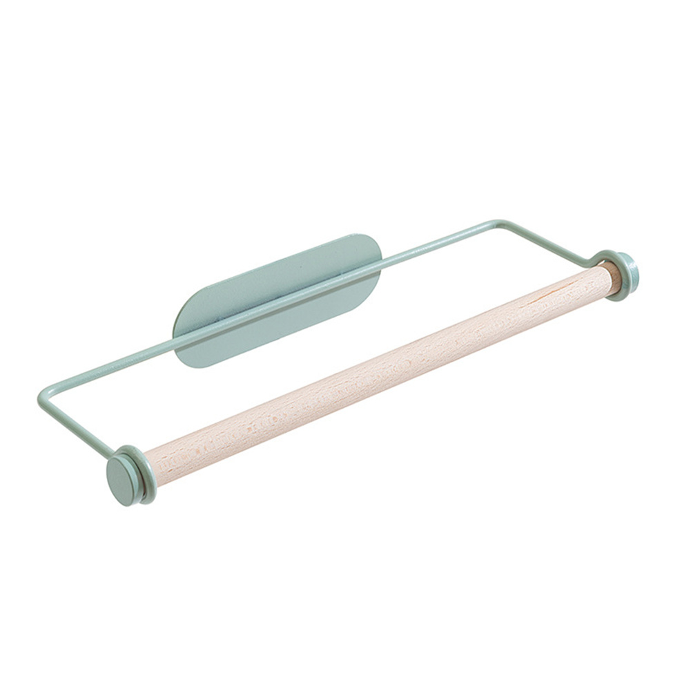 Iron Roll Paper  Holder Carbon Steel Kitchen Organizer Toilet Paper Bathroom Towel Storage Mount Green