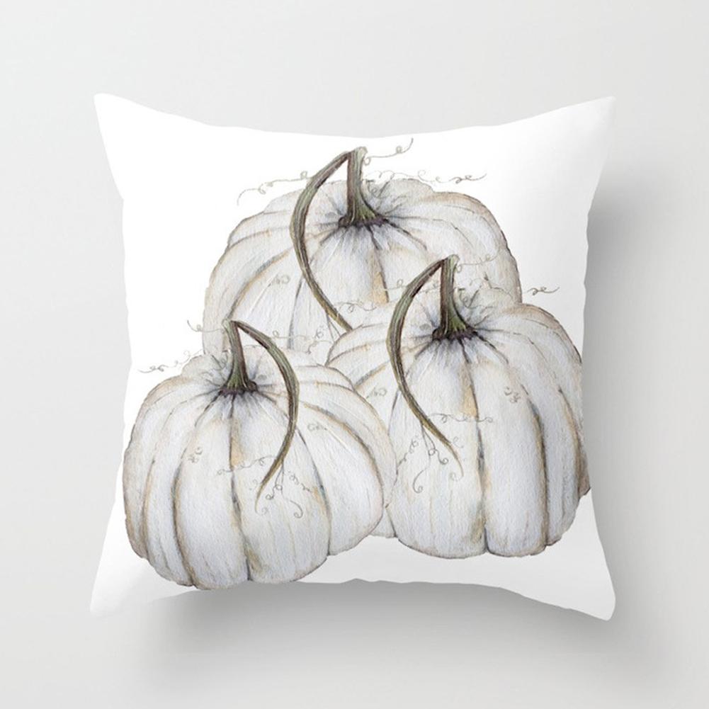 Thanksgiving Day Pumpkin Printed Throw Pillow Cover Pillowcases Decorative Sofa Cushion Cover DRD85-12_45*45cm