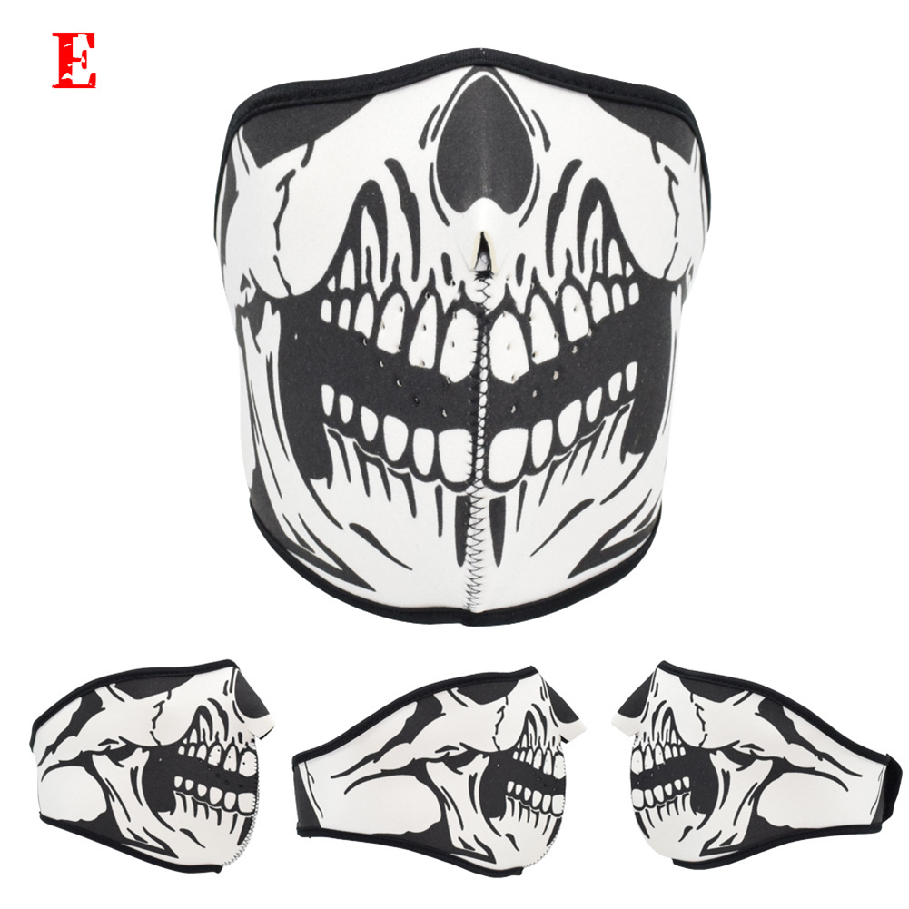Motorcycle Riding Mask Dust-proof Mask Halloween Mask with Different Pattern One size